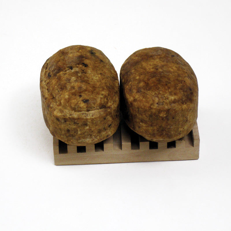 Pack of 2 - Natural Black Soap Bars - B&R African Styles