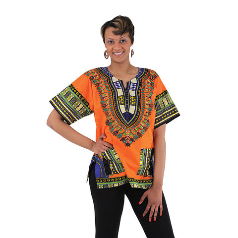 Traditional Dashiki: Orange