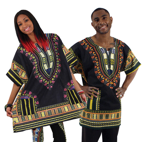 King-Size Dashiki: Black 1X