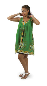 Short/Dark Green Sundress - B&R African Styles