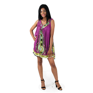 Short/Purple Sundress - B&R African Styles