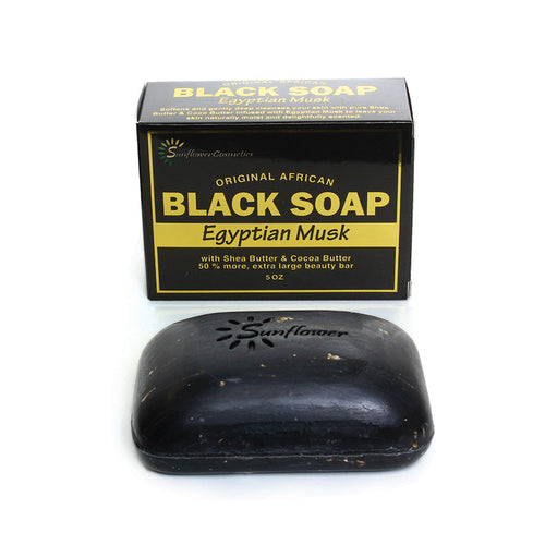 5oz Egyptian Musk Black Soap - B&R African Styles