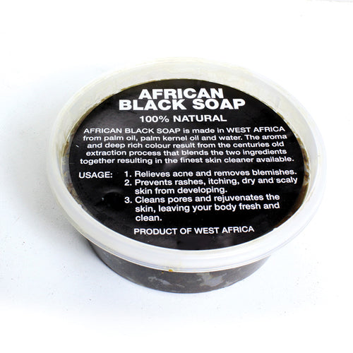 8 oz Black Soap West African - B&R African Styles