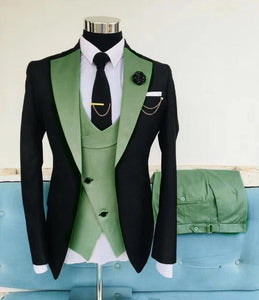 Wedding Slim Suits for Men 3 pieces Blazer Jacket