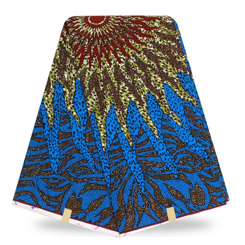 Super Wax Hollandais Ankara Fabric Print 6 Yards - B&R African Styles