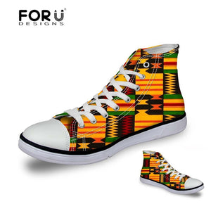 African Lace Fabric Printing Fashion Sneakers - B&R African Styles