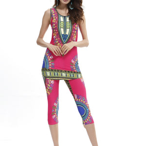 Traditional Dashiki  Leggings  2pcs Sets - B&R African Styles