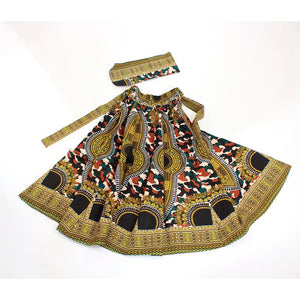 Traditional Dashiki Camouflage Maxi Skirt - B&R African Styles