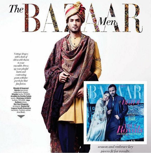 ANAIKKA MEN IN BAZAAR MAGAZINE