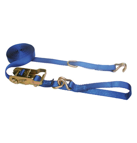"1"" x 16' Ratchet Strap c/w Wire Hook"