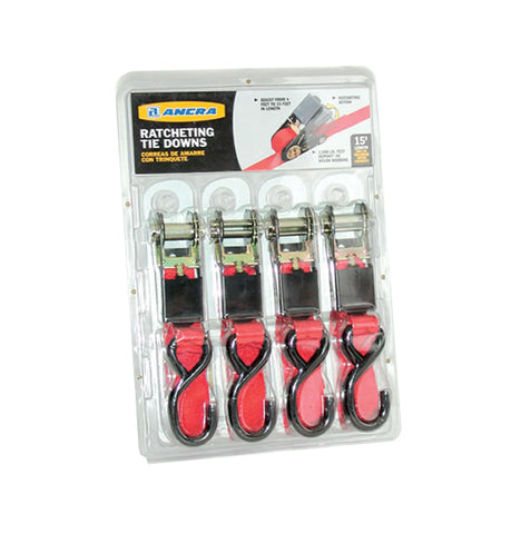 Ratcheting Tie Downs - Four Pack
