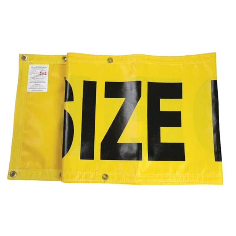 "Wide/Oversized Load Heavy-Duty PVC Banner - 12"" x 96"""