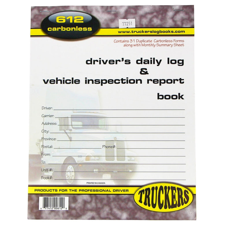 Driver's Daily Log & Vehicle Inspection Log Book