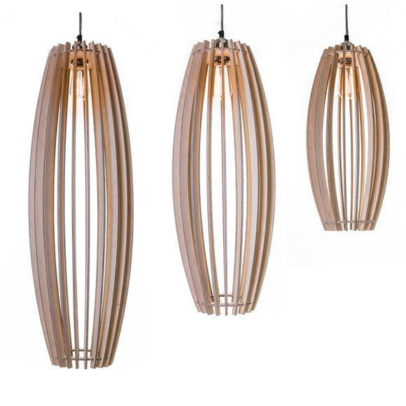 Barrel Shaped pendant lights
