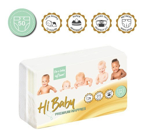 Hi Baby Premium Nappies (50's)