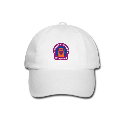 'Tugged It + Loved It' Baseball Cap - white/white