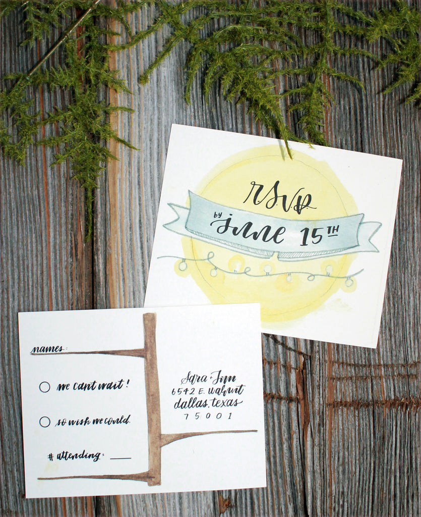 Backyard Charm - Invitations