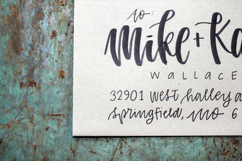Whimsy Envelope Addressing - Black Ink