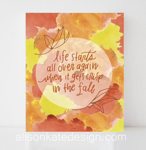 Crisp in the Fall - Illustrative Art Print