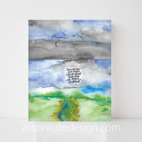 C.S. Lewis Watercolor - Art Print