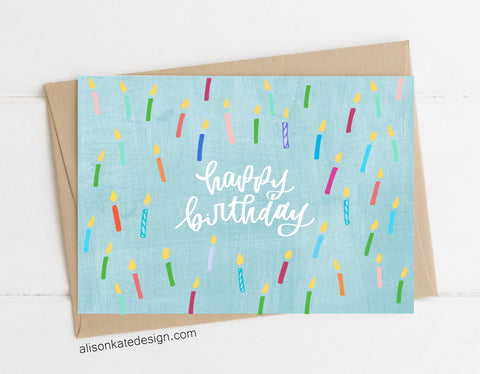 Happy Birthday Candles - Card