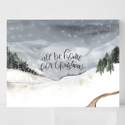 I'll Be Home for Christmas - Holiday Art Print