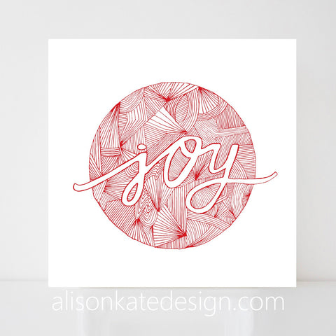 Joy - Holiday Art Print
