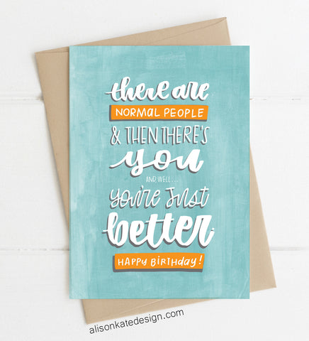 You're Better - Card