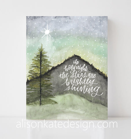 Oh Holy Night - Holiday Art Print