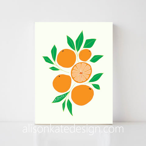 Oranges - Illustrated Art Print