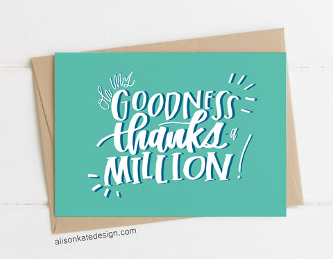 Thanks-A-Million! - Card