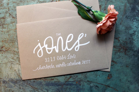 Whimsy Envelope Addressing - White Ink
