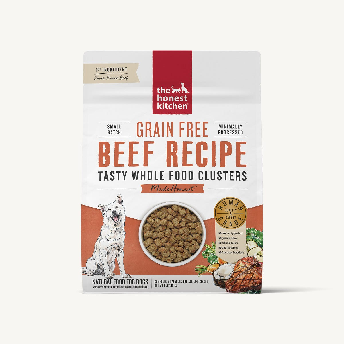Honest Kitchen Whole Food Clusters Dog Food (Dry) - Beef