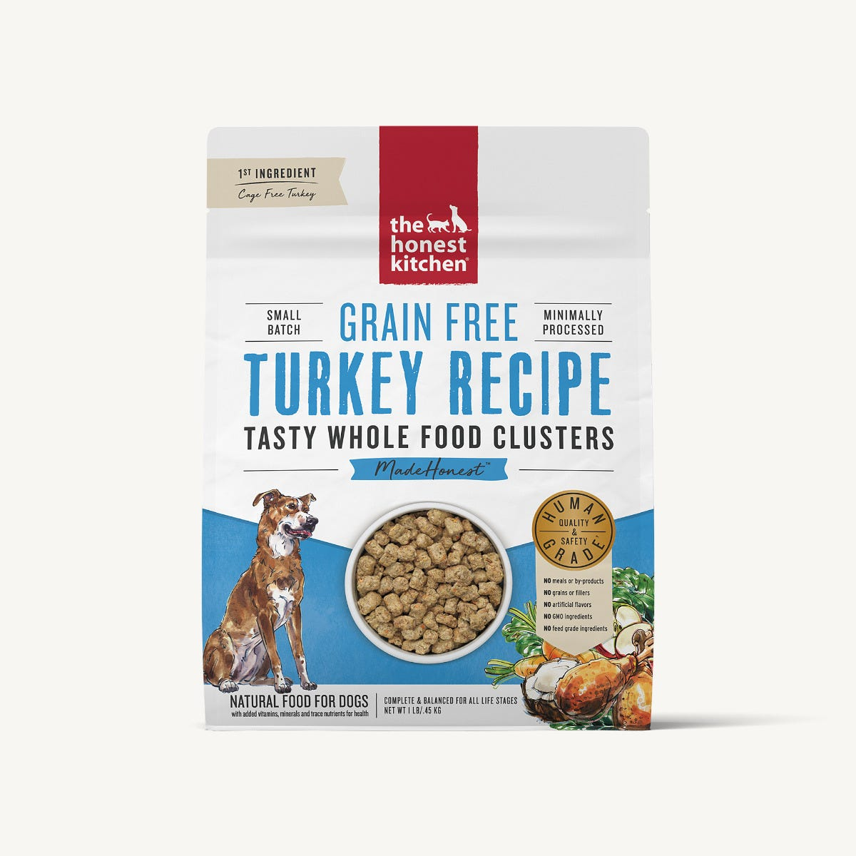 Honest Kitchen Whole Food Clusters Dog Food (Dry) - Turkey