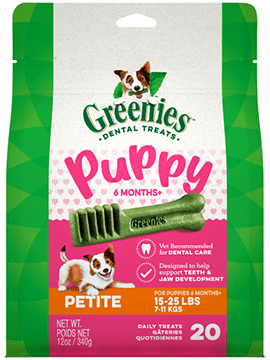 Greenies Dental Treats - Puppy 6 Months+ - Petite or Regular