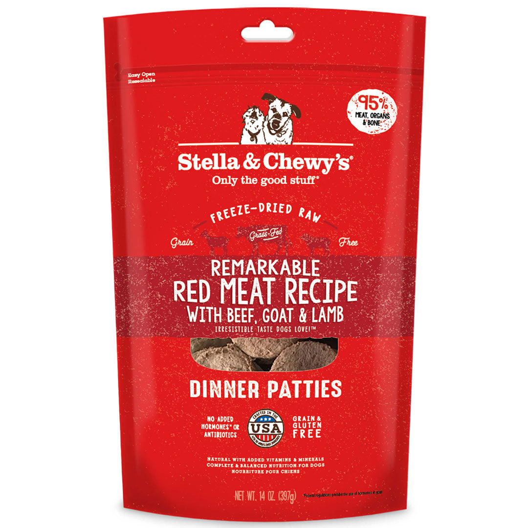 Stella and Chewy's Freeze Dried Raw Dinner Patties - Remarkable Red Meat