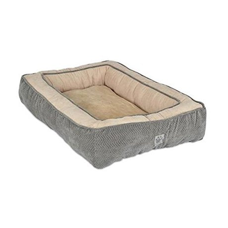 SnooZZy Chevron Bumper Bed in Chocolate or Grey