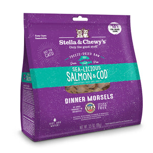 Stella and Chewy Freeze Dried Raw Cat Food - SeaLicious Salmon & Cod