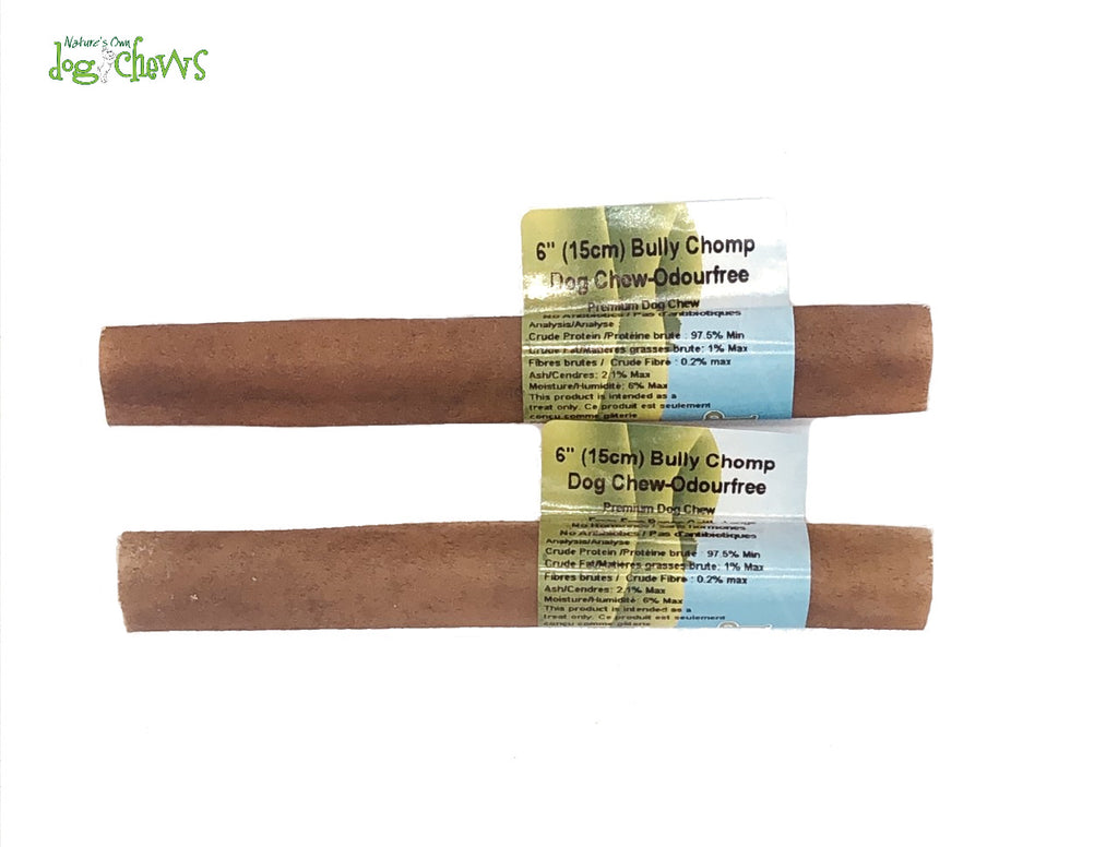 "Nature's Own 6"" Beef Chomper Bully Stick Alternative"