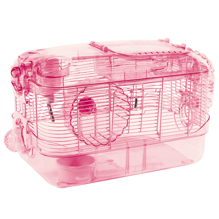 Kaytee CritterTrail One-Level Hamster Cage Pink Edition