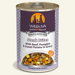 Weruva Grain Free Canned Dog Food - Steak Frites