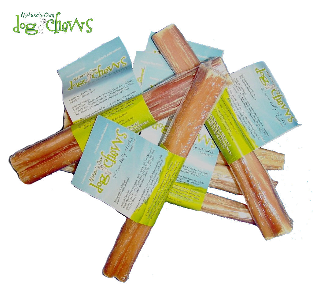 "Nature's Own Odour-Free Bully Sticks 6"" or 12"""
