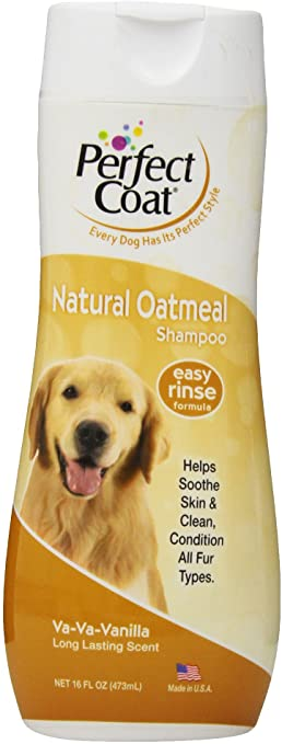 Perfect Coat Natural Oatmeal Dog Shampoo - Vanilla