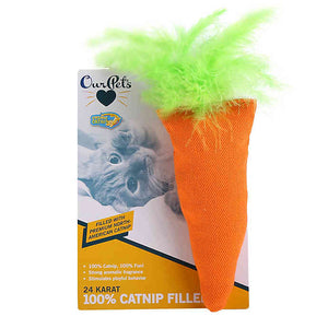 OurPets 24Karat 100% Catnip Filled Carrot Toy