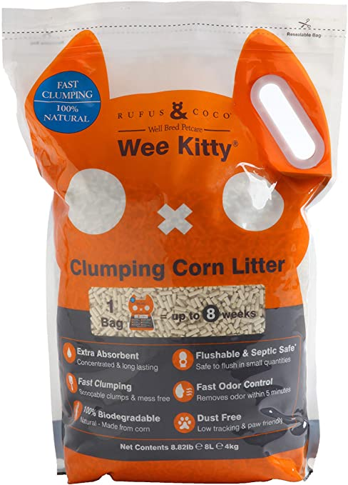 Wee Kitty Clumping Corn Cat Litter