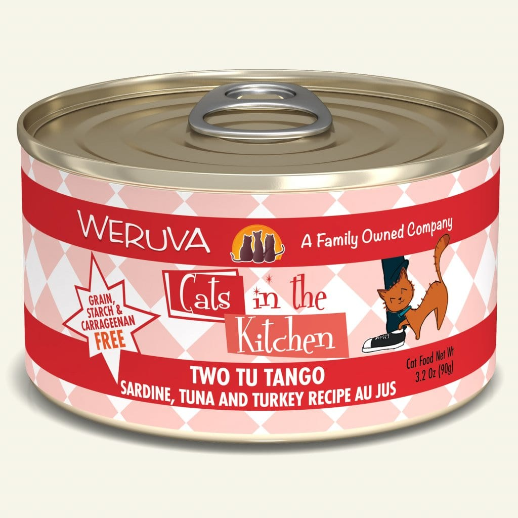 Weruva Cats in the Kitchen Cat Food (Wet) - Two Tu Tango Sardine, Tuna & Turkey