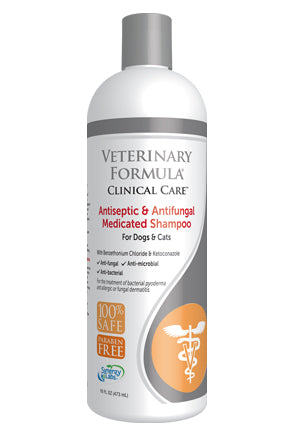 Veterinary Formula Clinical Care - Antiseptic & Antifungal Medicated Shampoo for Dogs & Cats