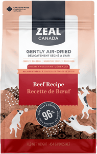 Zeal Air-Dried Raw Dog Food - Beef