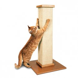 "SmartCat Ultimate Scratch Post - Super Durable 32"" Woven Sisal Scratcher"