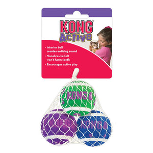 Kong Cat Active Jingle Tennis Balls